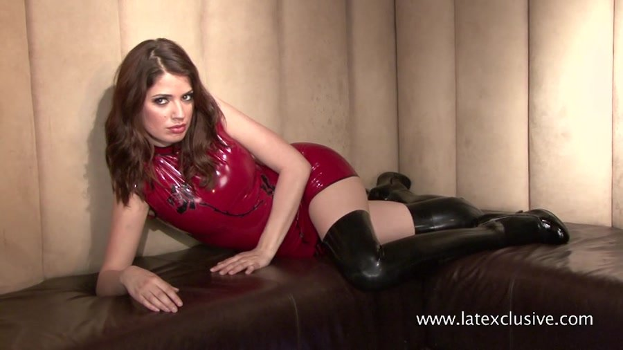 Latexclusive.com - Olivia - Red Latex Sleeveless Dress [HD 720p / Rubber / Fetish / 2015]