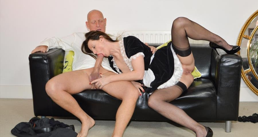 JimSlip.com - Lara Latex, Paul - French Maid Gets Fucked [HD 720p / Milf / Hardcore / 2016]