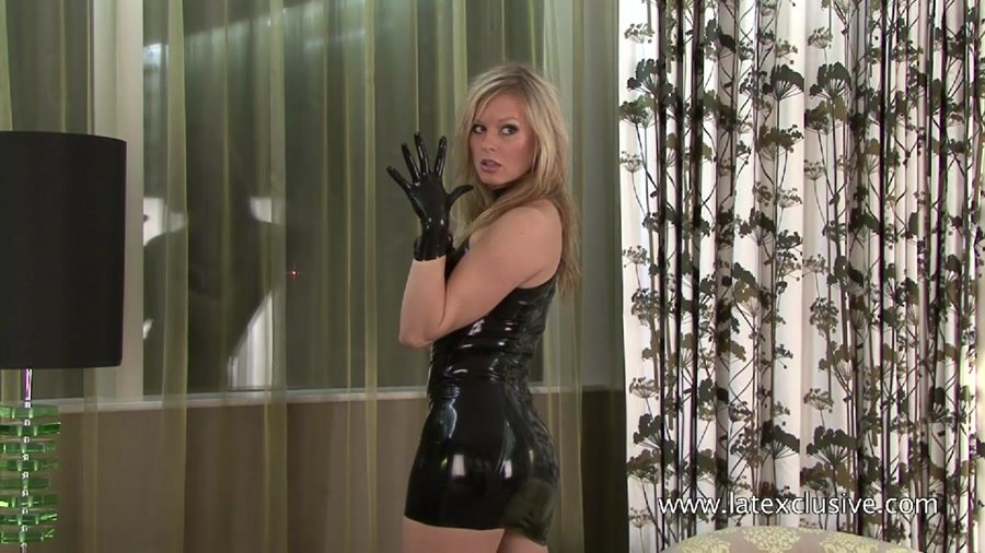 Latexclusive.com - Mia - Black Latex Sleeveless Dress [HD 720p / Latex / Solo / 2011]