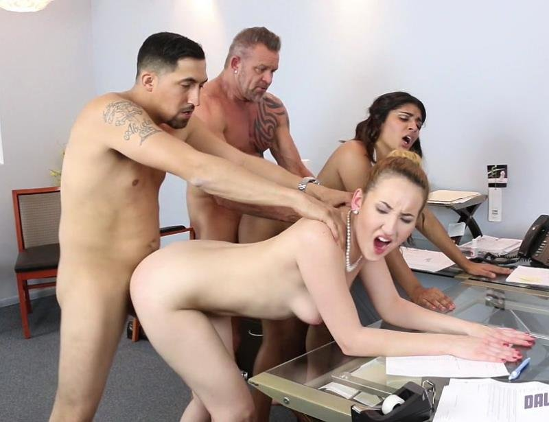 DaughterSwap.com - Gigi Flamez, Katalina Mills - Bring Your Daughter To Work Day [FullHD / Group / Facial / 2016]