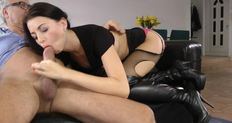 JimSlip.com - Leyla - Panties Ripped To Shreds [HD 720p / Teen / Old Man / 2015]