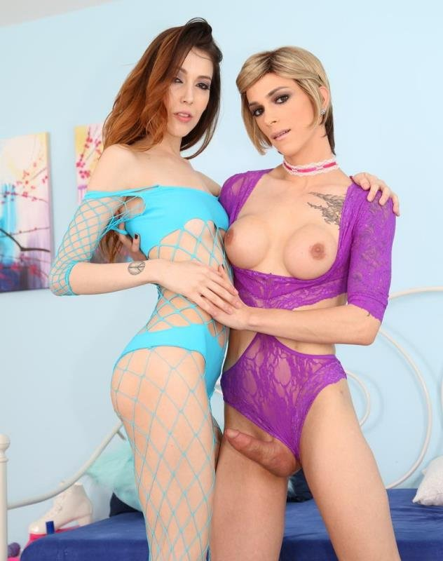 EvilAngel.com - Jenna Justine, Nina Lawless - TS Playground 21 [HD / Shemale / Transsexual / 2015]