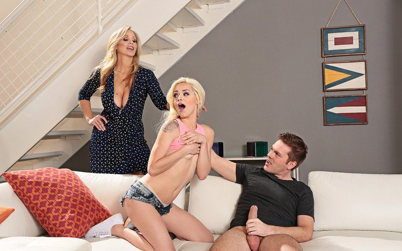 SeducedByACougar.com - Elsa Jean, Julia Ann - Blonde [SD / Big Tits / Threesome / Blonde / 2016]