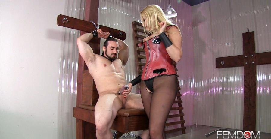 FemdomEmpire.com - Vanessa Cage - Steel Caged Cock Teasing [FullHD 1080p / Femdom / Domination / 2016]