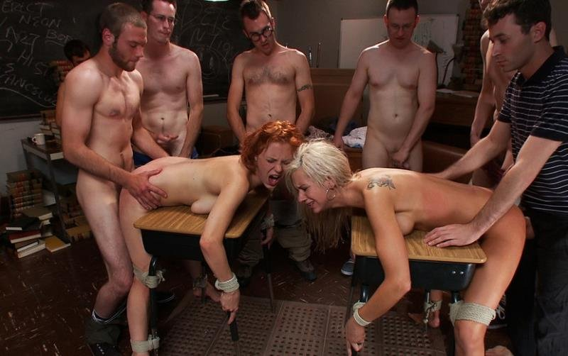 BoundGangBangs.com/Kink.com - Kaylee Hilton, Clayra Beau - Revenge of the Nerdz [HD / BDSM / Gang Bang / 2011]
