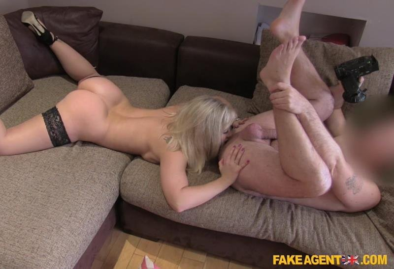 FakeAgentUK.com - Karlie - Tight Shaven Pussy Fucked Over Desk [HD / Big Ass / Big Tits / 2016]