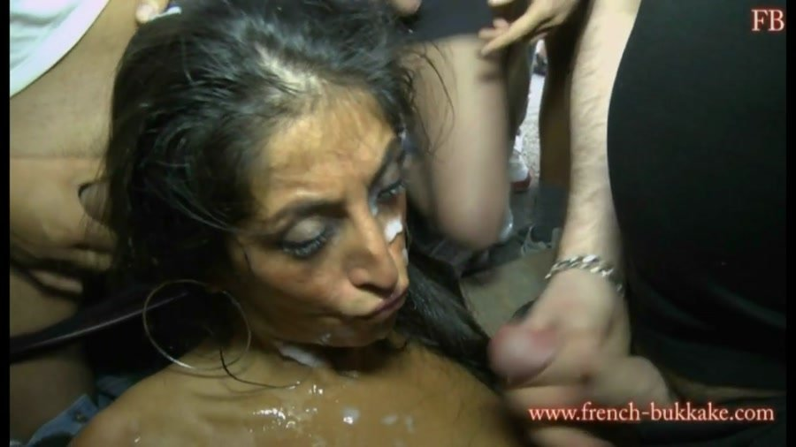 French-Bukkake.com - Zahia - Group sex [HD 720p / Bukkake / Gang Bang / 2015]