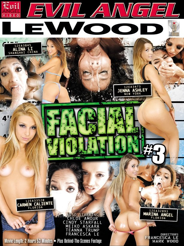Evil Angel - Alina Li, Carmen Caliente, Chloe Amour, Cindy Starfall, Francesca Le - Facial Violation 3 [WEBRip/SD 540p / Blowjobs / All Sex / 2014]