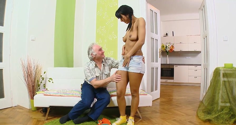 OldYoungAnal.com - Kim - The old man to a young bitch [FullHD 1080p / Teen / Anal / 2016]