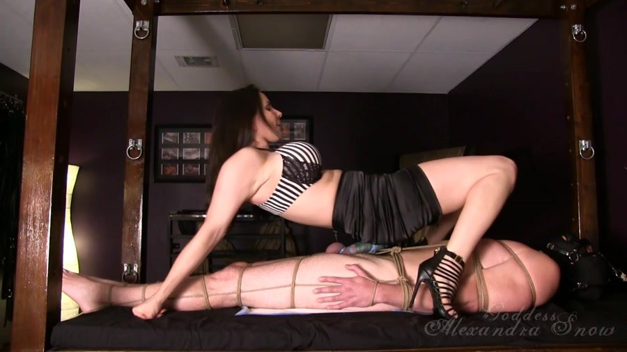 GoddessSnow.com - Alexandra Snow - Tied and Trampled [HD 720p / Femdom / Foot Domination / 2015]
