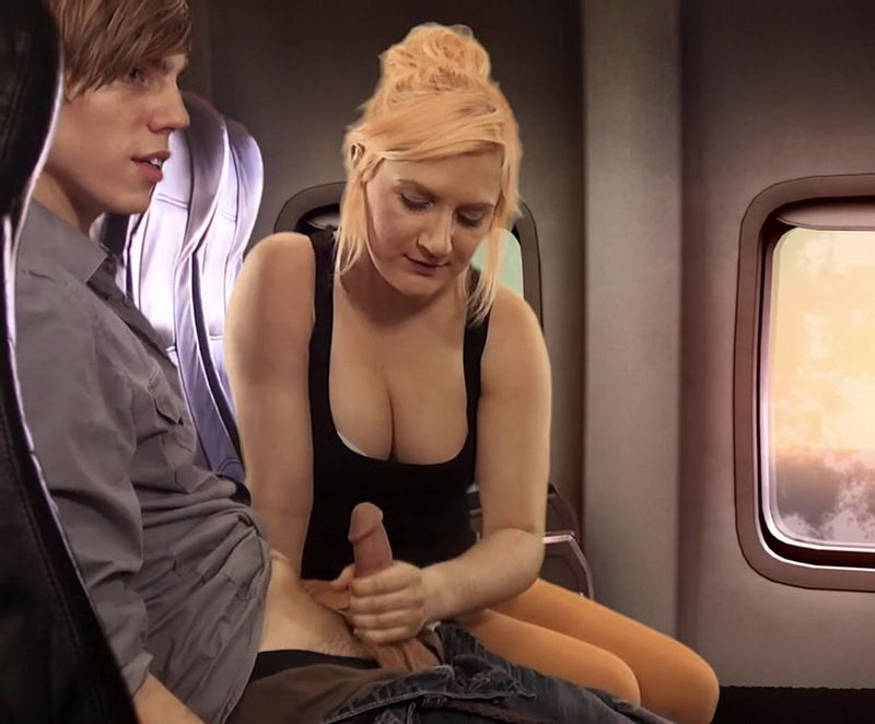 Clips4sale.com - Amateur - Airplane Handjob [HD / Handjob / Blowjob / 2015]