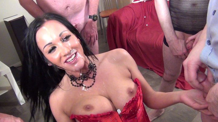 WeLoveBukkake.com - Chantelle Fox - See multiple cumshot [SD / Bukkake / Hardcore / 2016]