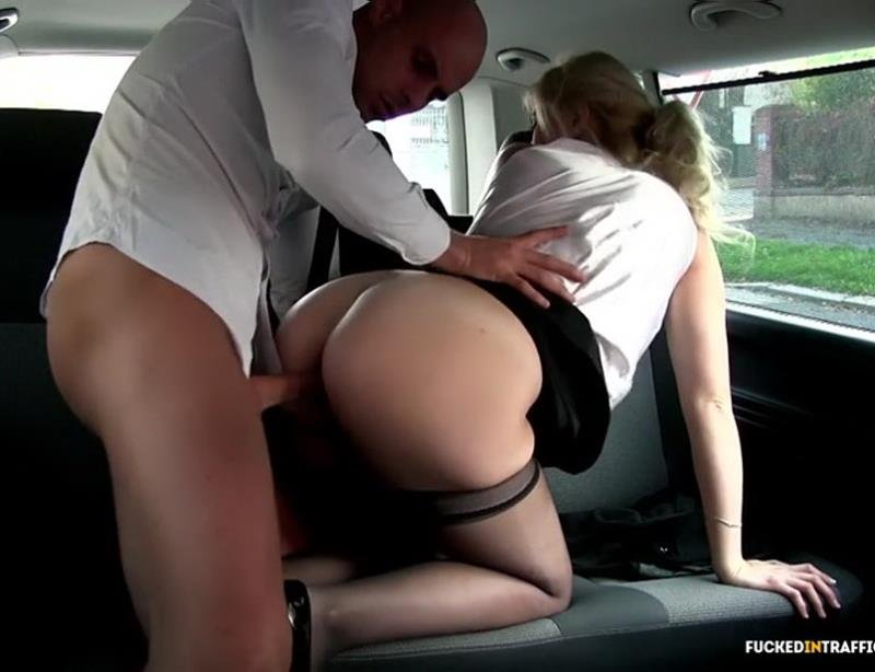 FuckedInTraffic.com - Barbara Nova - Czech blondie Barbara Nova gets fucked in a van [SD / All Sex / Hardcore / 2016]