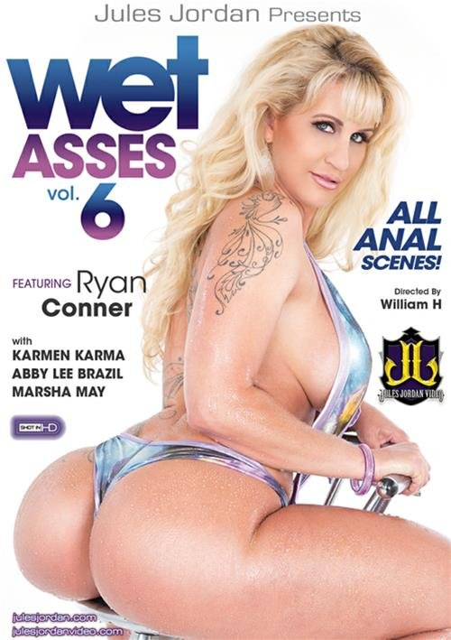 Jules Jordan Video - Ryan Conner,Abby Lee Brazil,Marsha May,Karmen Karma - Wet Asses 6 [DVDRip 404p / Gonzo / Oil / Anal / 2016]