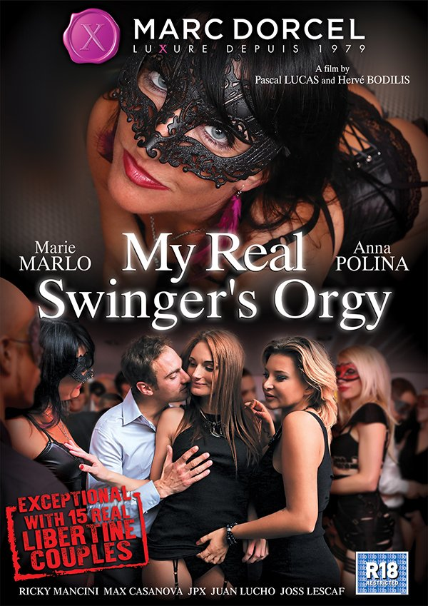Marc Dorcel - Anna Polina, Marie Marlo - My Real Swingers Orgy [WEBRip/SD 540p / All Sex / Orgy / 2016]