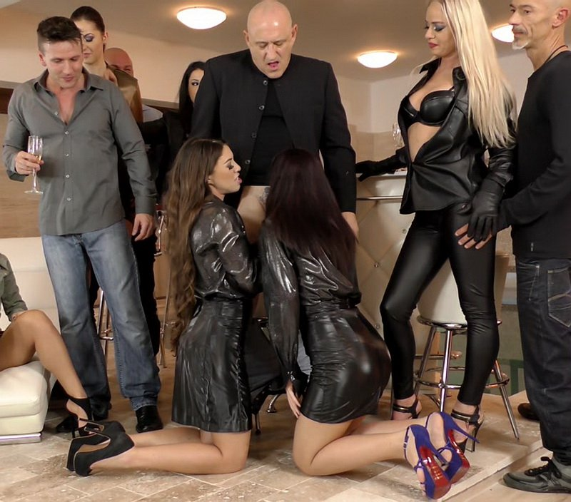 SloppySwapping.com - Tiffany Doll, Meg Magic, Coco de Mal, Dorina Golden, Bella Beretta, Nomi Melone - Horny House Warming Party [4K / Cum Swapping / Blowjobs Spitting / 2016]
