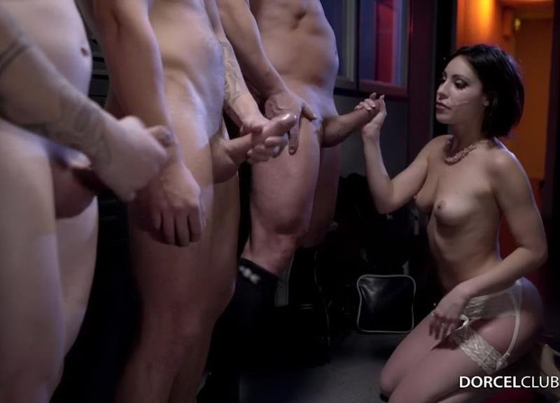 DorcelClub.com - Ines Lenvin - Hard Gang Bang With A Rugby Team [HD / Anal / DP / 2016]