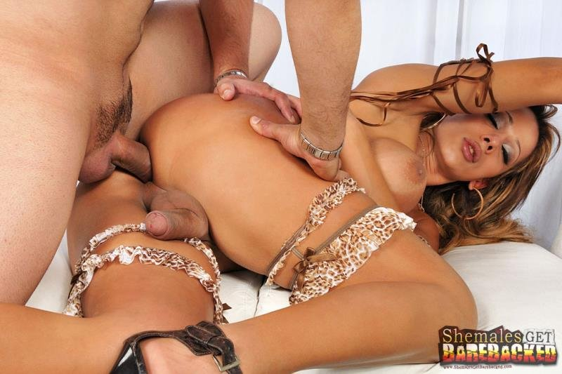 ShemalesGetBarebacked.com/TrannyAccess.com - Nicolly Navarro - My New Young Guy [HD 720p / Transsexual / Anal / 2013]