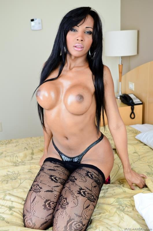 EvilAngel.com - Ariadina Oliver, Paulo Macky - The Next She-Male Idol 4 [HD / Shemale / Tranny / 2012]