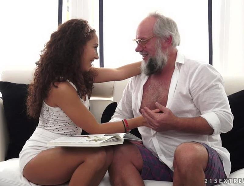 GrandpasFuckTeens.com - Diya Noir - A Sexy Spanish Lesson Plan [SD / Brunette / Old-young / 2016]