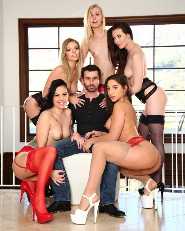 JamesDeen.com - Casey Calvert, Rachael Madori, Abella Danger, Alexa Grace, Trisha Parks - 5 Girls, 1 James Deen [HD / Hardcore / Group Sex / 2016]
