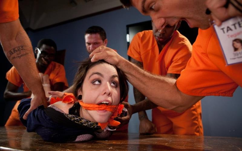BoundGangBangs.com/Kink.com - Tegan Tate - Prison Outreach Program - Starring Tegan Tate [HD / BDSM / Gang Bang / 2012]
