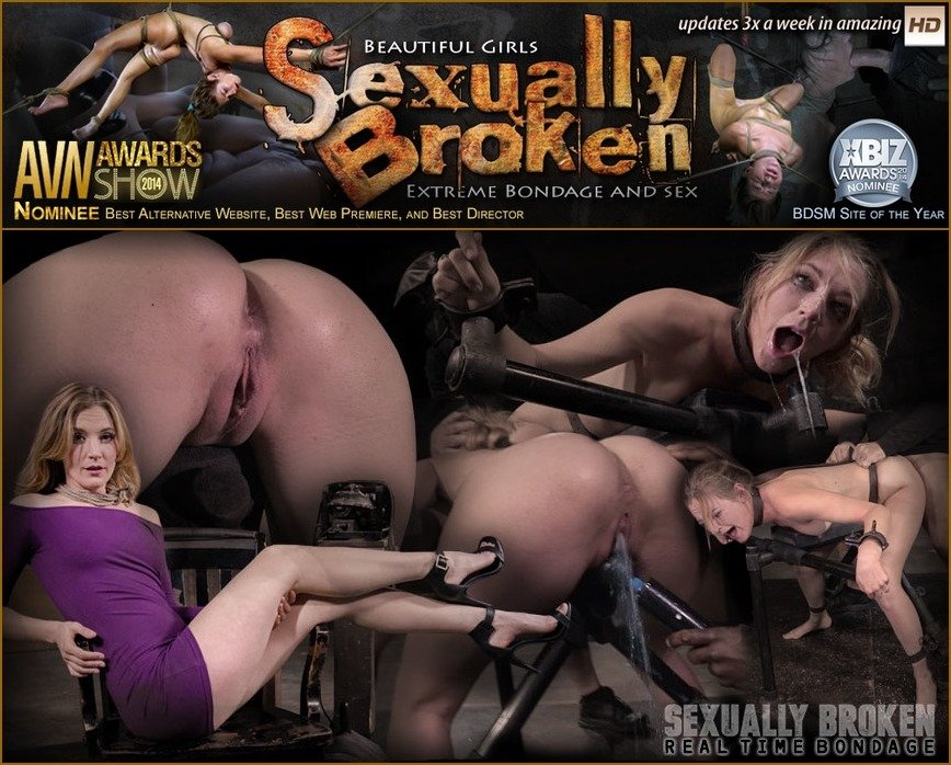 SexuallyBroken.com - Mona Wales - Stunning Mona Wales dicked down by BBC in tight bondage, massive squirting multiple orgasms! [HD 720p / BDSM / Rough Sex / 2016]