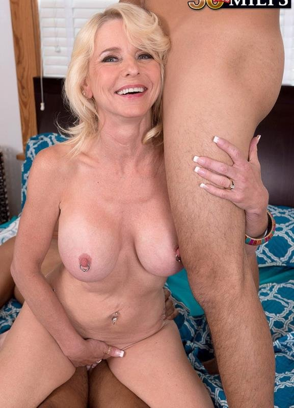 50PlusMilfs.com - Cammille Austin - Wife, mom, grandmother...ass-fucked by two guys! [HD / Anal / Threesome / 2015]