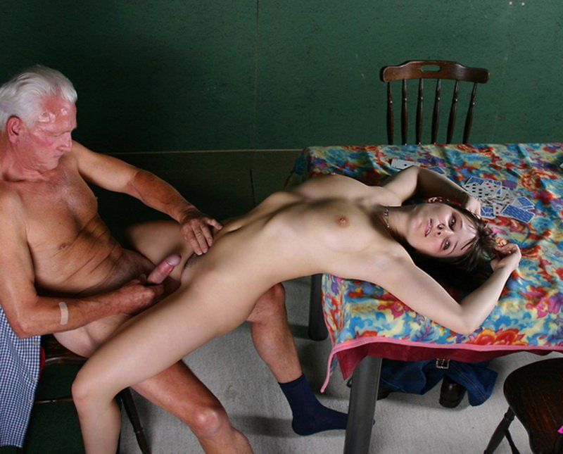 BeautyAndTheSenior.com - Kate - Granddaughter Grandfather Swallows Sperm [HD / Incest / Oral / 2010]