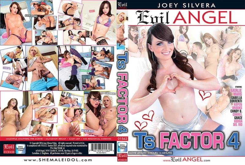 Evil Angel - Aspen Brooks, Candy B, Chanel D, Grace, Isabella Sorrenti, Johnny UK, Korra Del Rio - TS Factor 4 [WEBRip/SD 540p / Transsexual / Anal / 2016]
