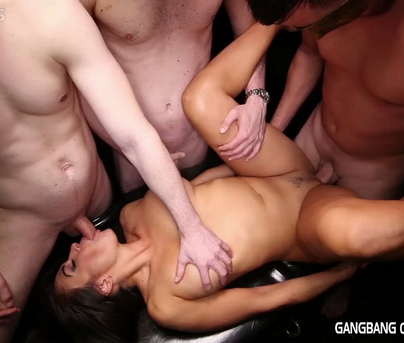 GangbangCreampie.com - Claudia - Gangbang Creampie 42 [HD / 5 Creampies / Blowjobs / 2016]