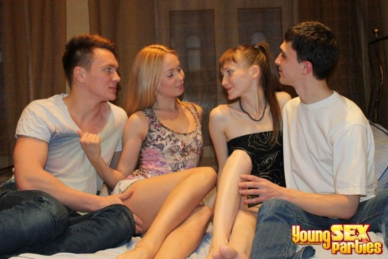 YoungSexParties.com - Nika, Elena, Brian - Teen swingers fuck together [HD / Group Sex / Teen / 2013]