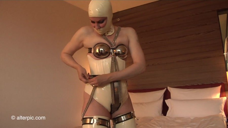 Alterpic.com - Nikol - Chastity-2 [HD 720p / Latex / Solo / 2016]