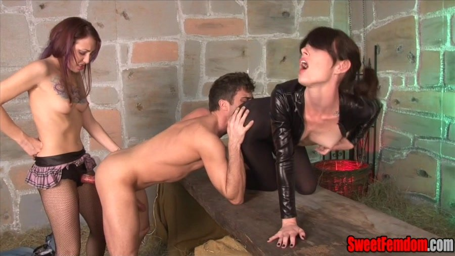 SweetFemdom.com - Jasmine Mendez, Ricky South - Seduced and broken in the stable 2 [SD / Femdom / BDSM / 2016]