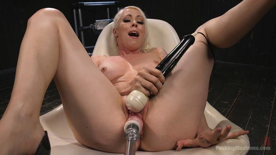 FuckingMachines.com - Lorelei Lee - Blonde Goddess Lorelei Lee is Double Penetrated with Machines!! [HD 720p / Fuck Machine / Masturbation / 2016]