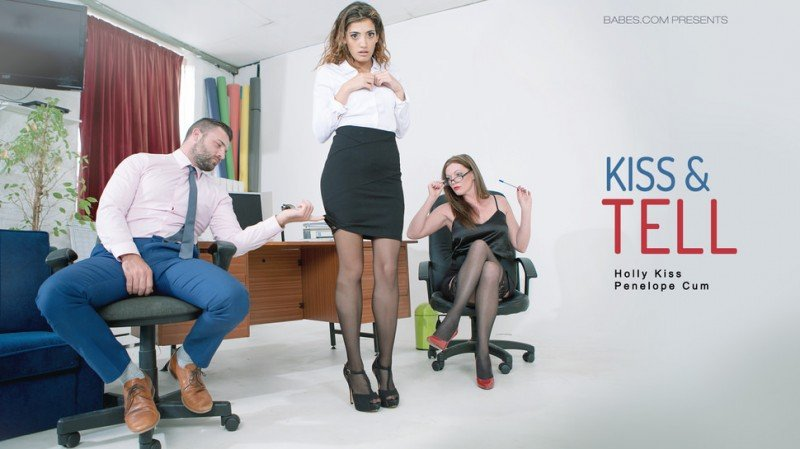 OfficeObsession.com - Holly Kiss, Penelope Cum - Kiss - Tell [SD / Work Fantasies / Threesome / 2016]