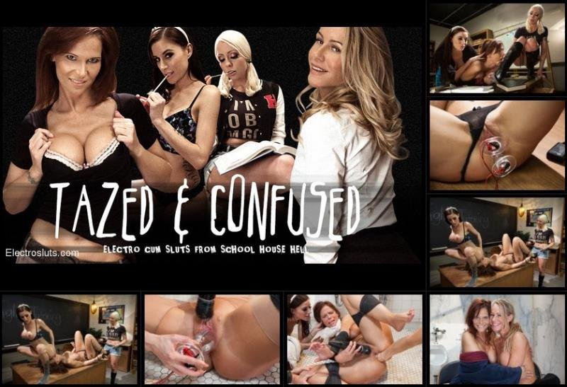 ElectroSluts.com - Lorelei Lee, Gia DiMarco, Simone Sonay, Syren de Mer - Tazed and Confused [HD / BDSM / Electric / 2013]