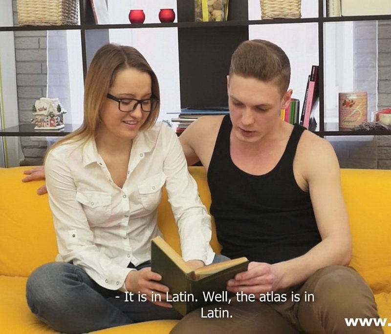 SheIsNerdy.com - Ksenia - Studying Anatomy Through Sex [FullHD / Teens / Glasses / 2014]