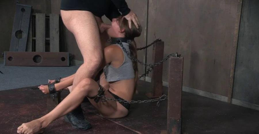 SexuallyBroken.com - Zoey Lane - Zoey Laine is chained and shackled down. Brutal face fucking and orgasms! Helpless and breathless! [SD / BDSM / Bondage / 2016]