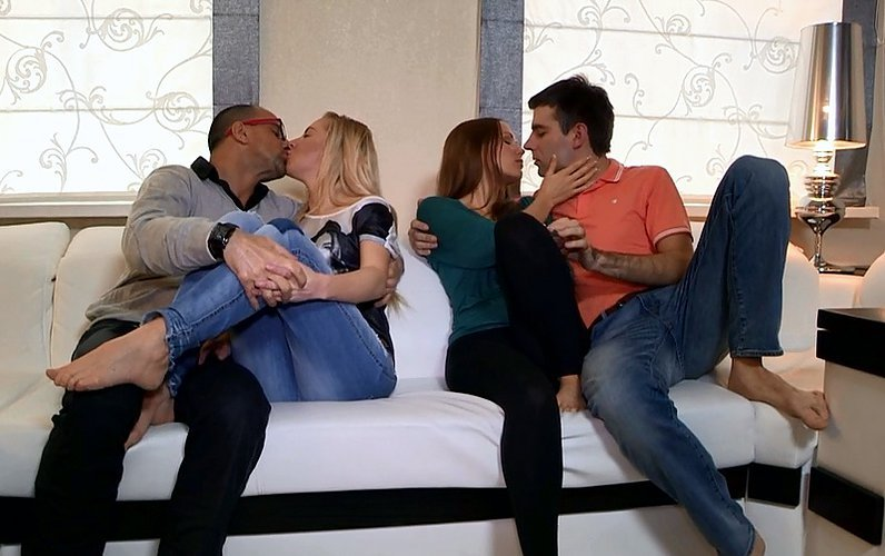YoungSexParties.com - Anna, Angela - Sharing the Fruit of Group Sex [FullHD / Group / Hardcore / 2014]