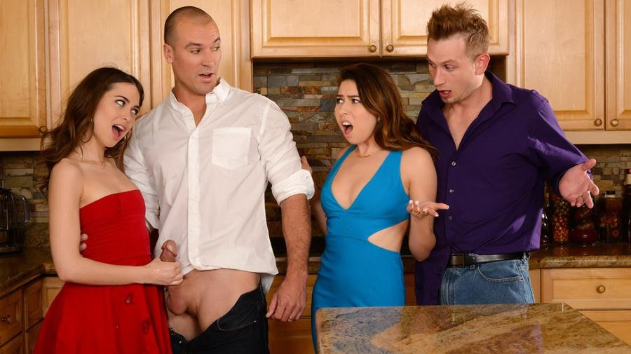 Brazzers.com - Melissa Moore & Riley Reid - Dinner For Sluts [SD / Natural Tits / Feet / 2016]