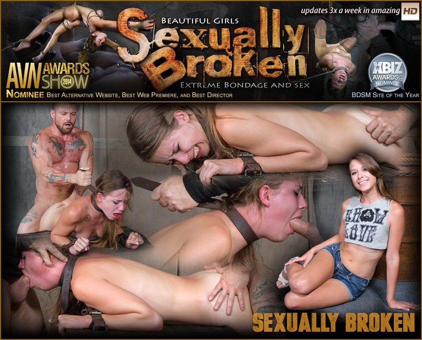 SexuallyBroken.com - Zoey Lane - To cute for porn Zoey Lane is destroyed by massive hard pounding cock in bondage. [SD / BDSM / Domination / 2016]