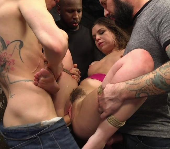 HardcoreGangBang.com - Juliette March, Small Hands, Tommy Pistol, Jon Jon, Tarzan, Owen Gray - Fucking The Film Crew [SD / Anal / BDSM / 2016]
