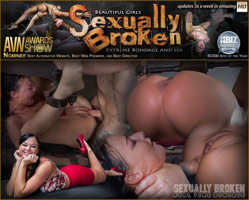 SexuallyBroken.com - London River - London River Can't Stop Cumming When Bound with Rough Anal Sex! [SD 540p / BDSM / Domination / 2016]