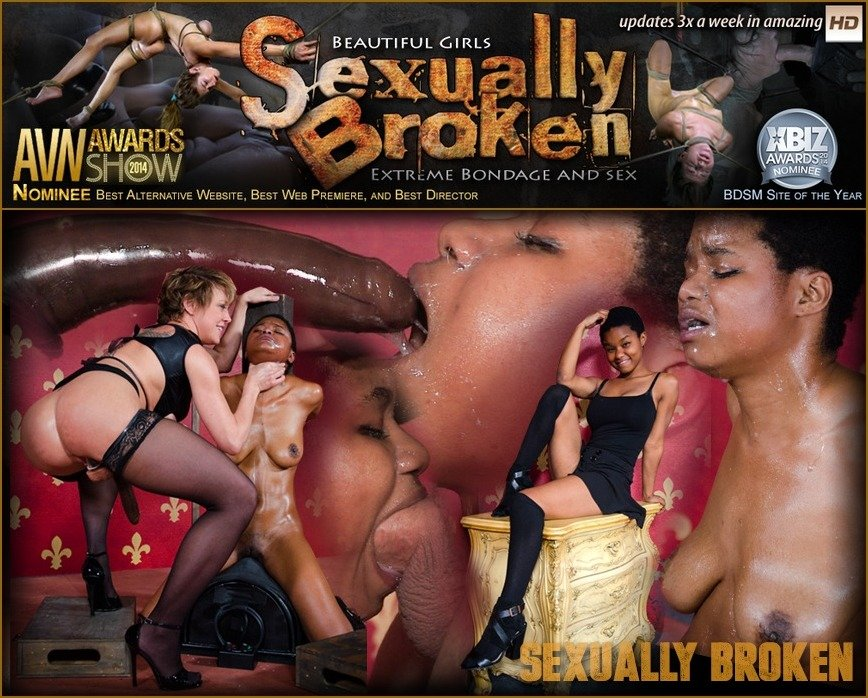 SexuallyBroken.com - Kahlista Stonem, Dee Williams - Kahlista Cums over and Over on Sybian while being Throatboarded by Hot Couple! [SD 540p / BDSM / Domination / 2016]
