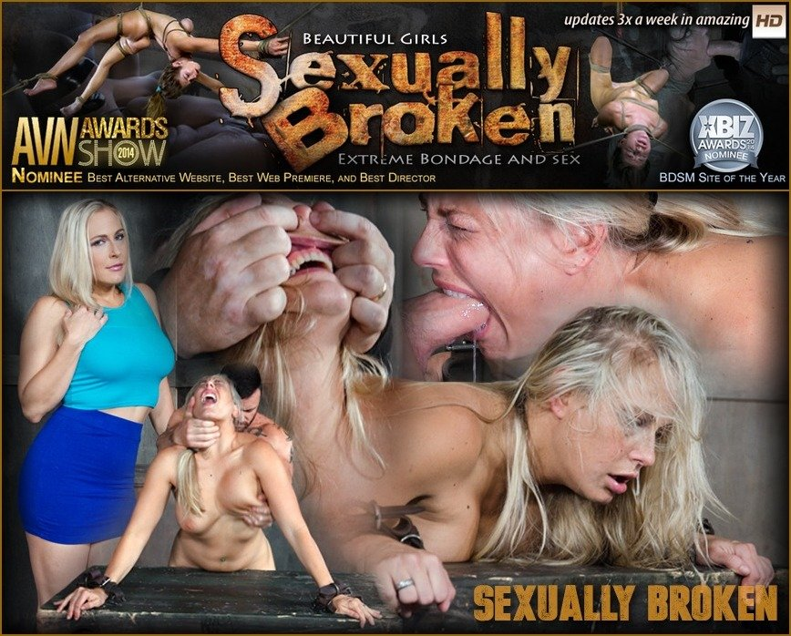 SexuallyBroken.com - Angel Allwood - Angel Allwood Bent Over and Roughly Fucked In Belt Bondage! [SD 540p / BDSM / Domination / 2016]