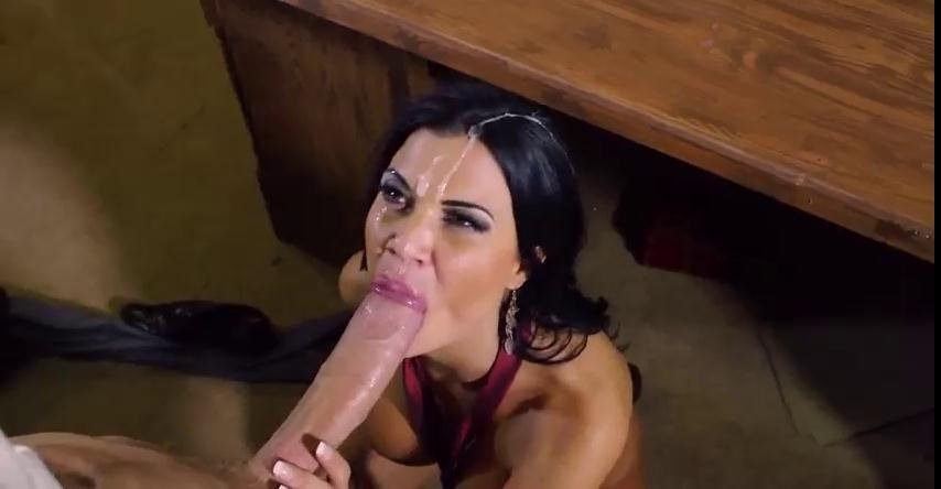 OnlyBlowJob.com - Jasmine Jae - Cum in Her Mouth: Hot-Blooded Busty Brit Sucks Big Cock! [SD / Big tits / Blowjob / 2017]