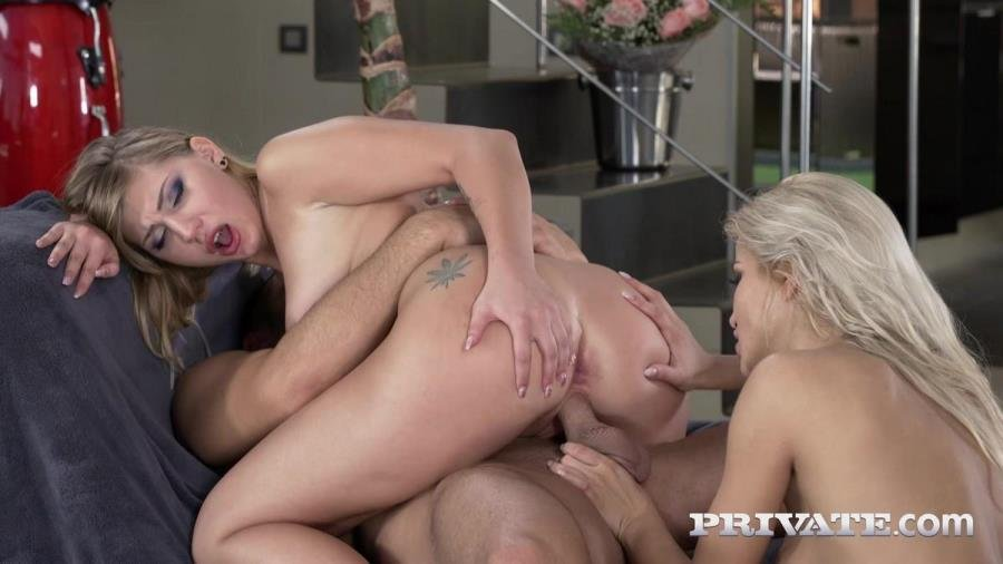 Private.com - Cherry Kiss, Haley Hill - Haley Hill loses Her anal Virginity in a Trio with Cherry Kiss [SD / Gonzo / 2017]
