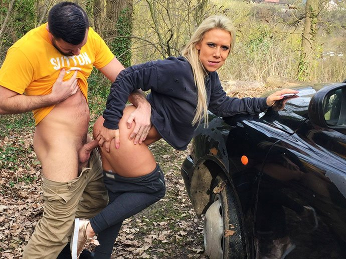 FemaleFakeTaxi.com - Sasha Steele - Milf Fucks Sutton Fan on Match Day [SD / Deep Throat / Big Tits / 2017]