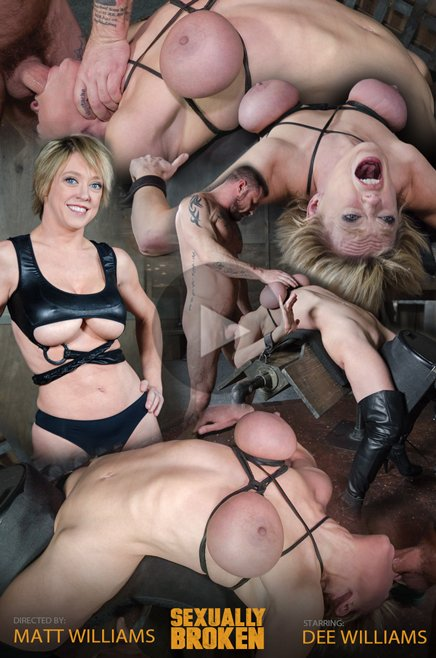SexuallyBroken.com - Dee Williams - Dee Williams, our sexy resident Top, gets grabbed, severely bound, Brutally face fucked on a sybian! [HD 720p / BDSM / Humiliation / 2017]